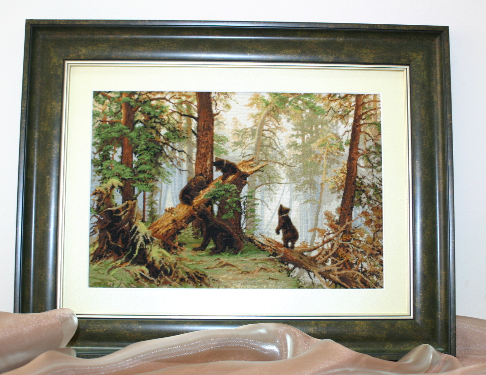 Утро в сосновом лесу вышивка luca s рубашки мужские из марлевки