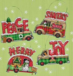 70-08974 Holiday Truck Ornaments