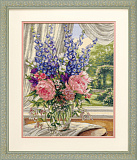 35257 Пионы и дельфиниумы (Peonies and Delphiniums)