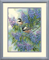 35258 Синицы и сирень (Chickadees and Lilacs)